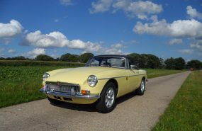 "MGB roadster ""prime rose yellow"""